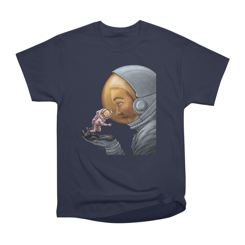 Out in the space Women's Heavyweight Unisex T-Shirt by davidmacedoart's Artist Shop
