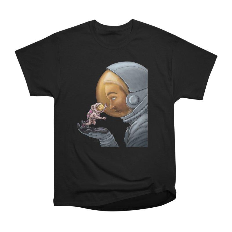 Out in the space Men's Heavyweight T-Shirt by davidmacedoart's Artist Shop