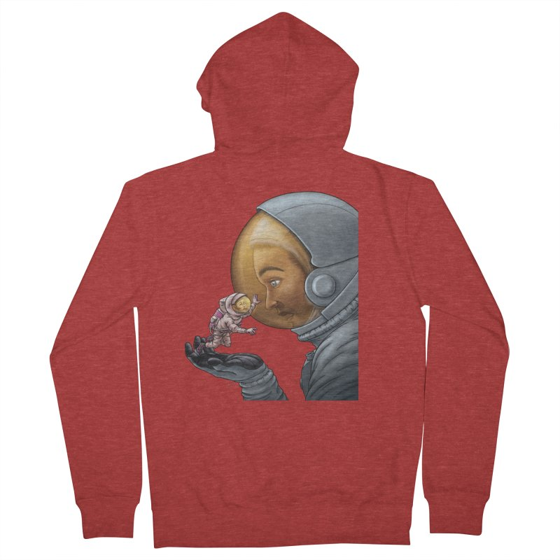 Out in the space Men's French Terry Zip-Up Hoody by davidmacedoart's Artist Shop