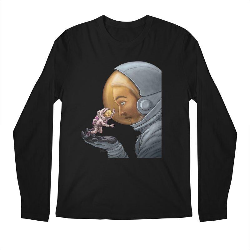Out in the space Men's Regular Longsleeve T-Shirt by davidmacedoart's Artist Shop