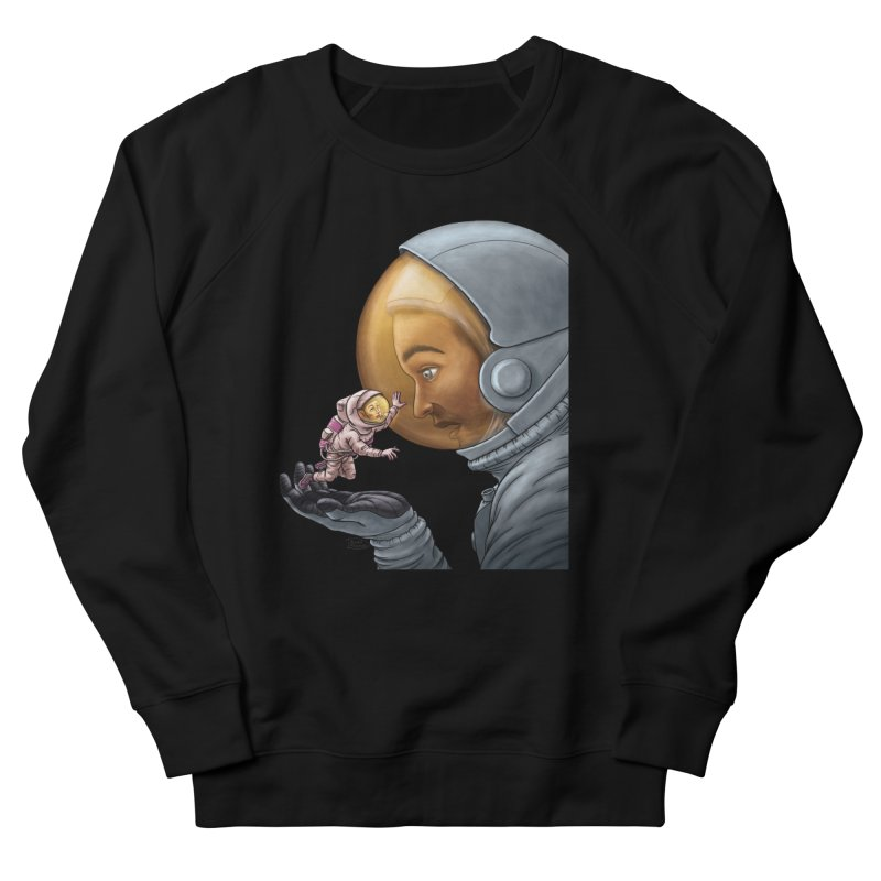 Out in the space Women's French Terry Sweatshirt by davidmacedoart's Artist Shop