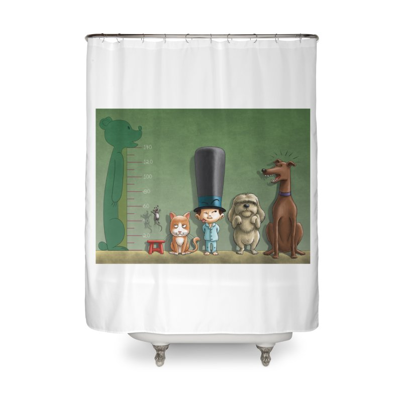 Naughty Child Home Shower Curtain by davidmacedoart's Artist Shop