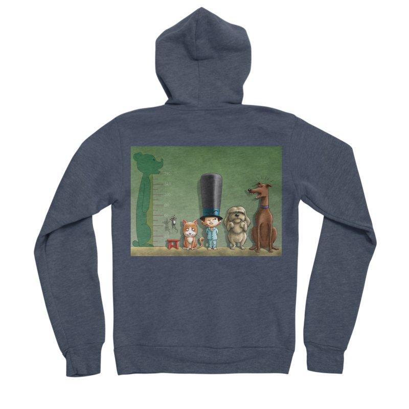Naughty Child Men's Sponge Fleece Zip-Up Hoody by davidmacedoart's Artist Shop