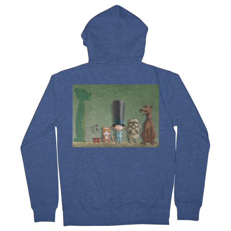 Naughty Child Men's French Terry Zip-Up Hoody by davidmacedoart's Artist Shop