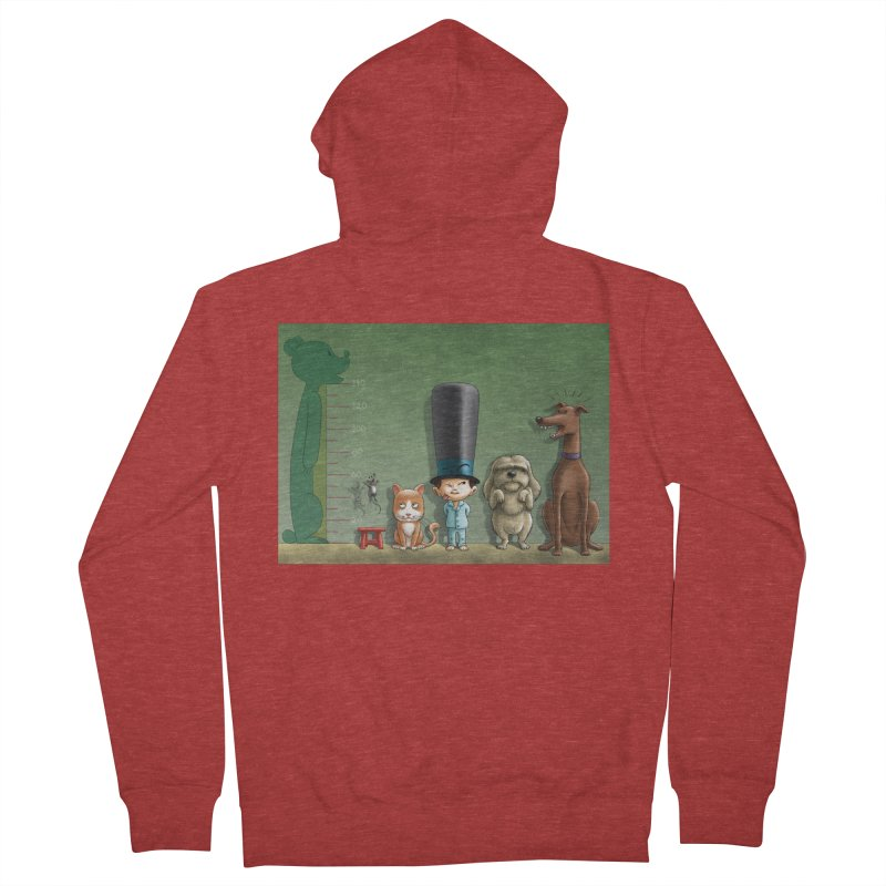 Naughty Child Women's French Terry Zip-Up Hoody by davidmacedoart's Artist Shop