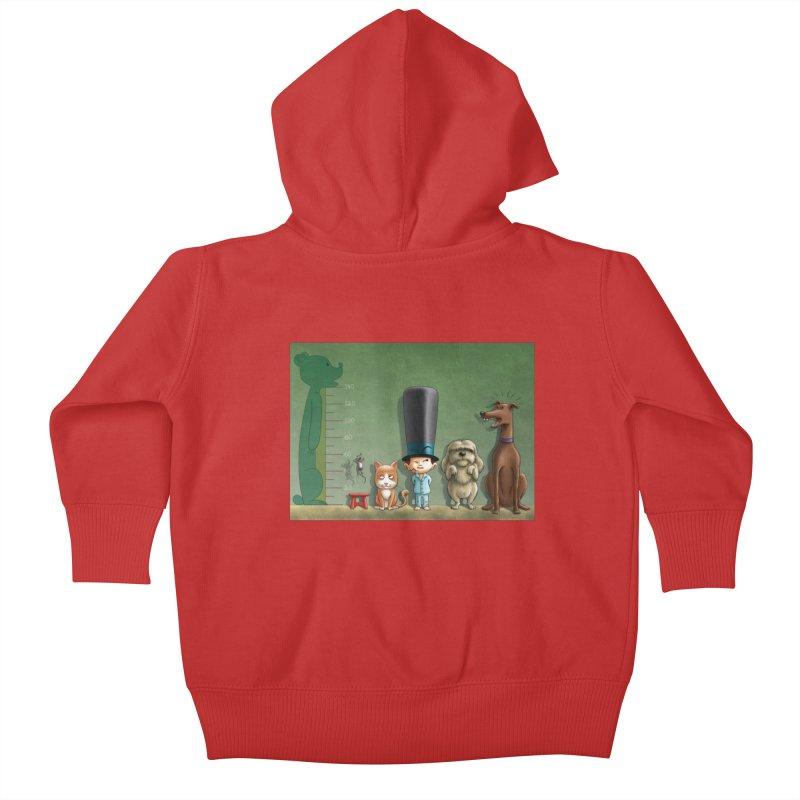 Naughty Child Kids Baby Zip-Up Hoody by davidmacedoart's Artist Shop