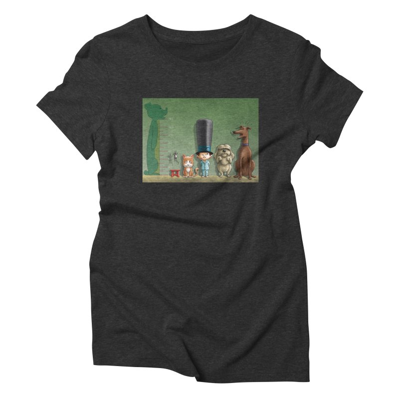 Naughty Child Women's Triblend T-Shirt by davidmacedoart's Artist Shop