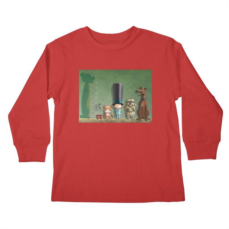 Naughty Child Kids Longsleeve T-Shirt by davidmacedoart's Artist Shop