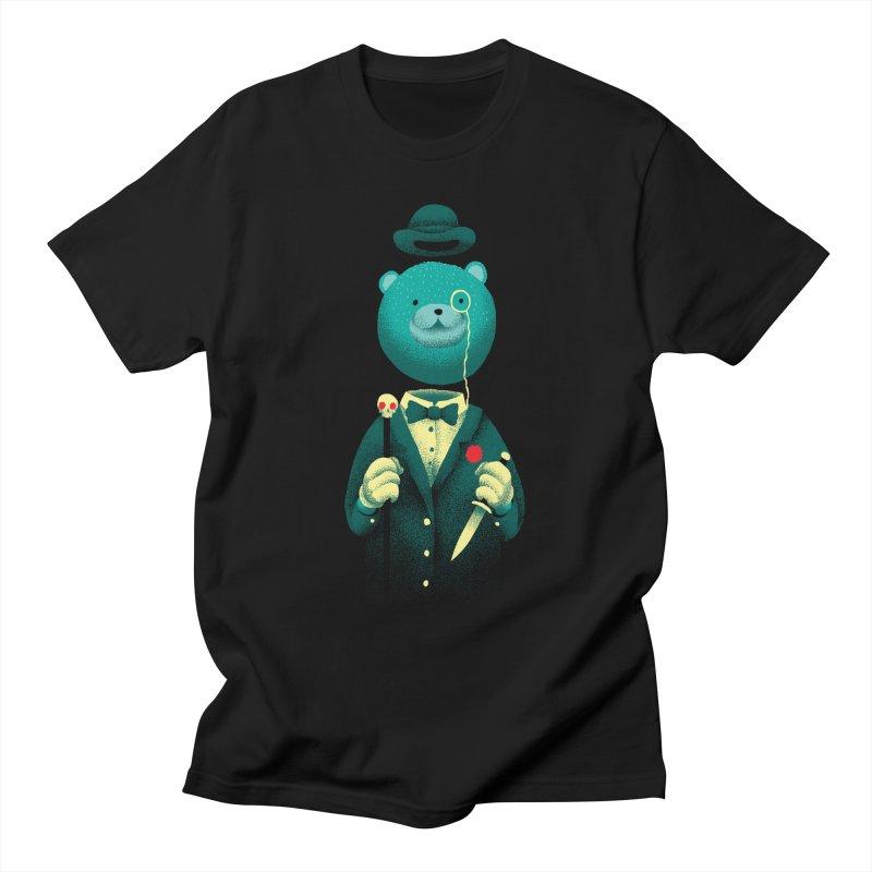 Bad Mr Bear Men's T-Shirt by David Maclennan