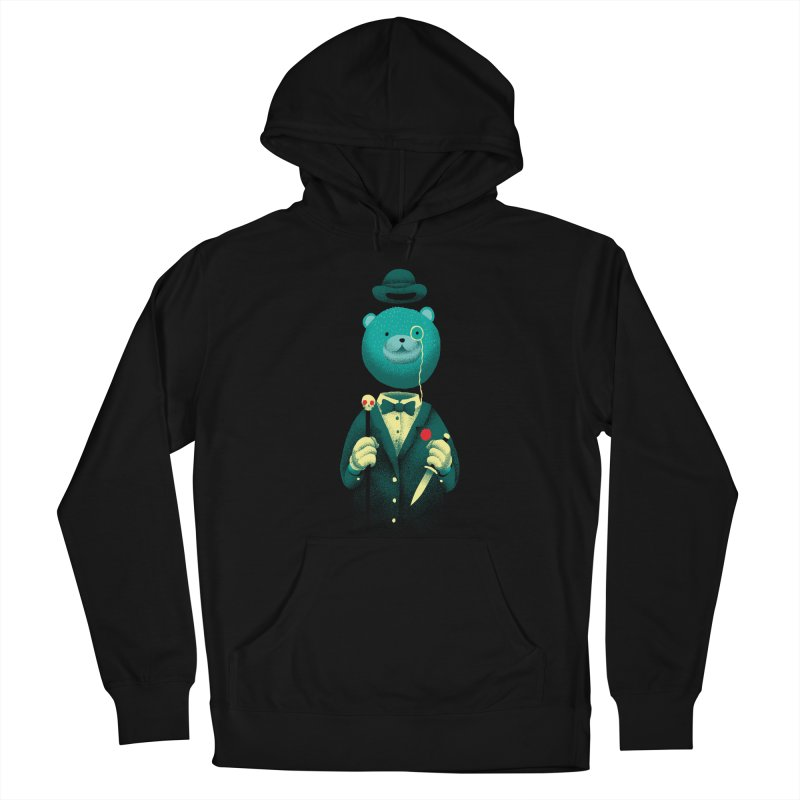 Bad Mr Bear Men's French Terry Pullover Hoody by David Maclennan