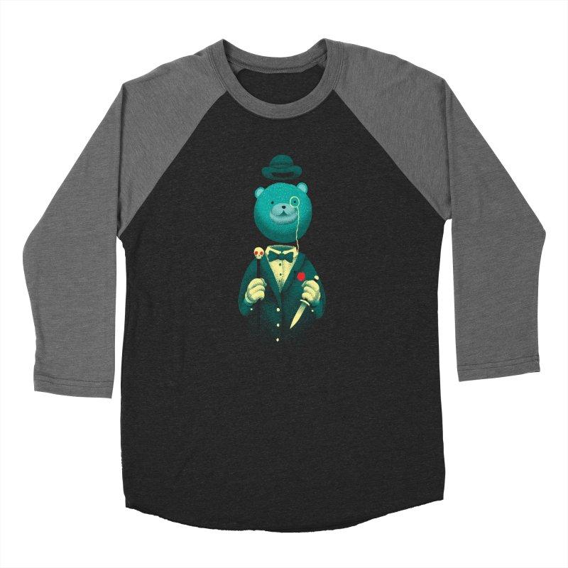 Bad Mr Bear Men's Baseball Triblend Longsleeve T-Shirt by David Maclennan