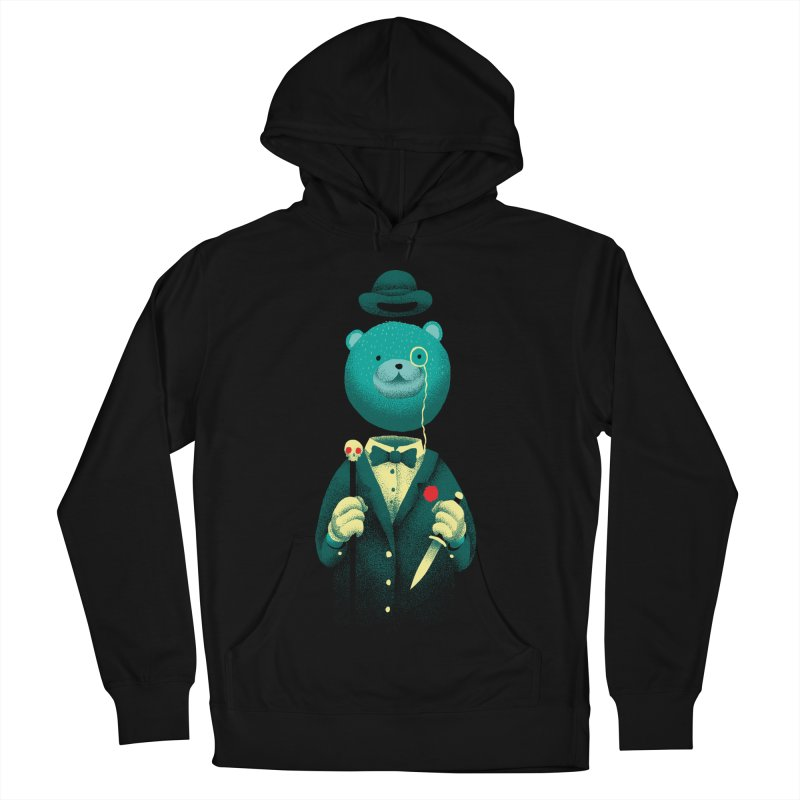 Bad Mr Bear Women's French Terry Pullover Hoody by David Maclennan