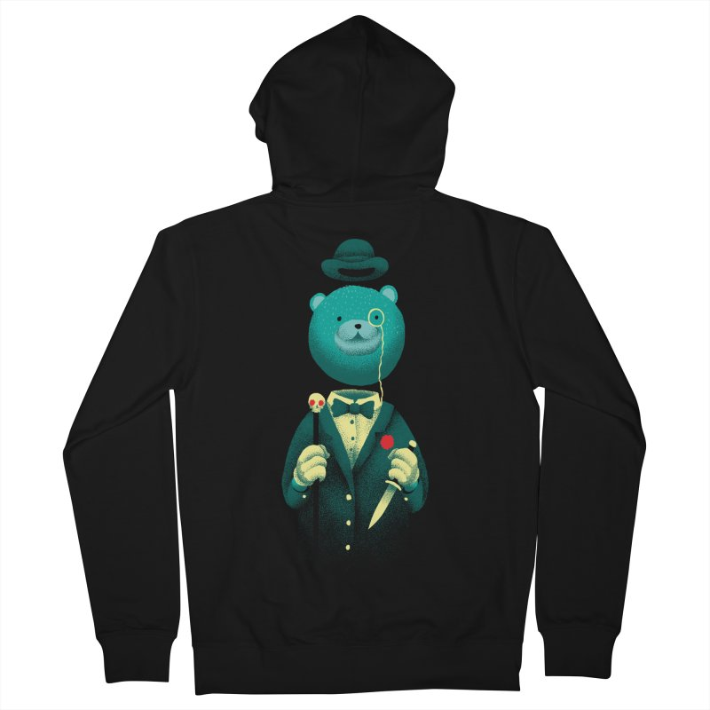 Bad Mr Bear Men's French Terry Zip-Up Hoody by David Maclennan
