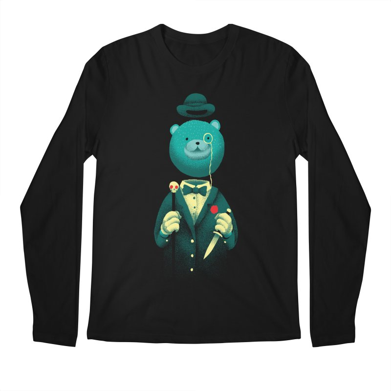 Bad Mr Bear Men's Regular Longsleeve T-Shirt by David Maclennan
