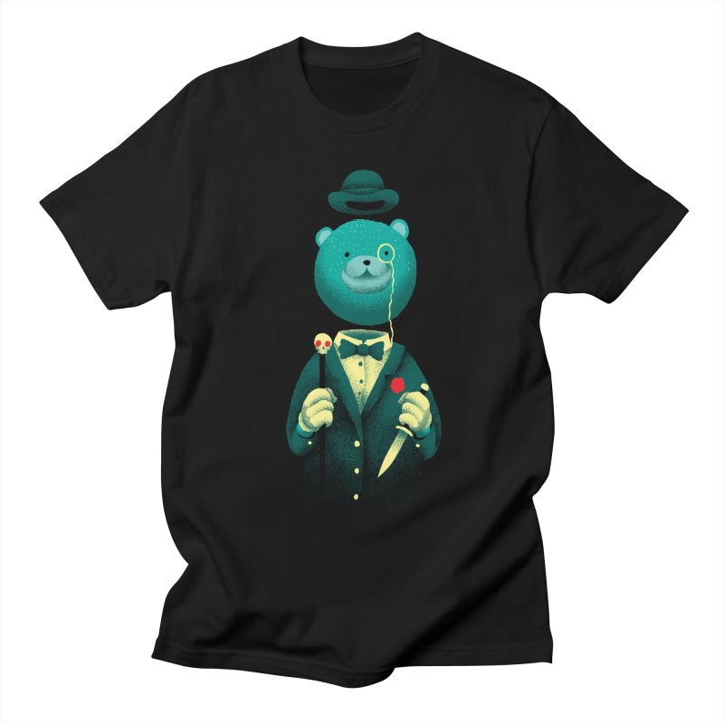 Bad Mr Bear Men's Regular T-Shirt by David Maclennan