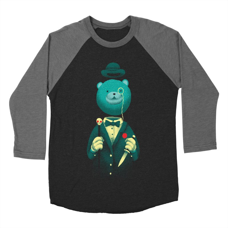 Bad Mr Bear Men's Baseball Triblend Longsleeve T-Shirt by David Maclennan