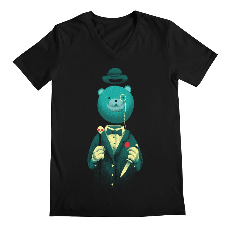 Bad Mr Bear Men's Regular V-Neck by David Maclennan