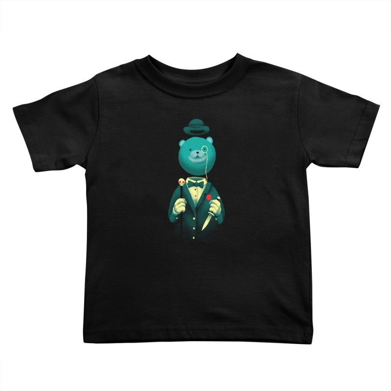 Bad Mr Bear Kids Toddler T-Shirt by David Maclennan