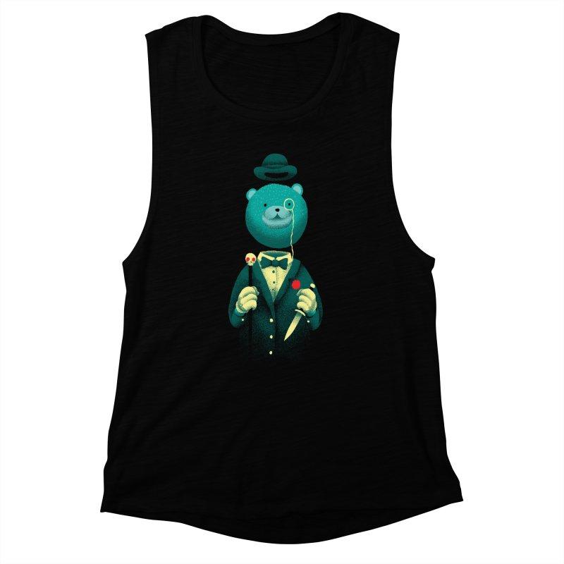 Bad Mr Bear Women's Muscle Tank by David Maclennan