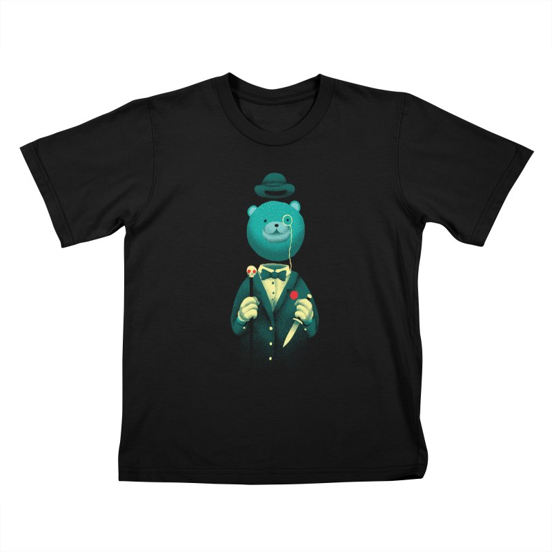 Bad Mr Bear Kids T-shirt by David Maclennan