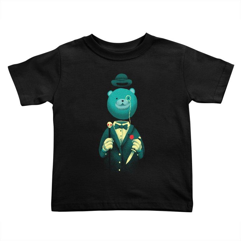 Bad Mr Bear Kids Toddler T-Shirt by David Maclennan