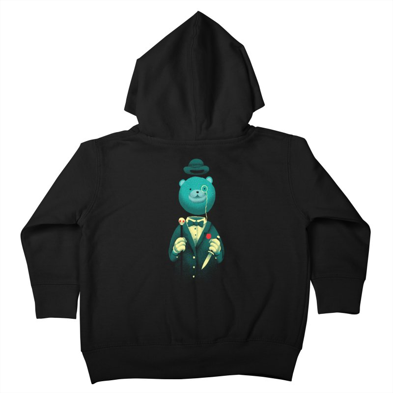 Bad Mr Bear Kids Toddler Zip-Up Hoody by David Maclennan