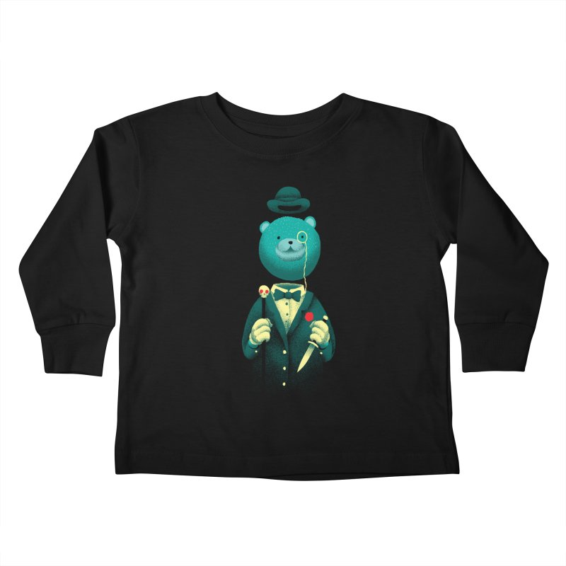 Bad Mr Bear Kids Toddler Longsleeve T-Shirt by David Maclennan