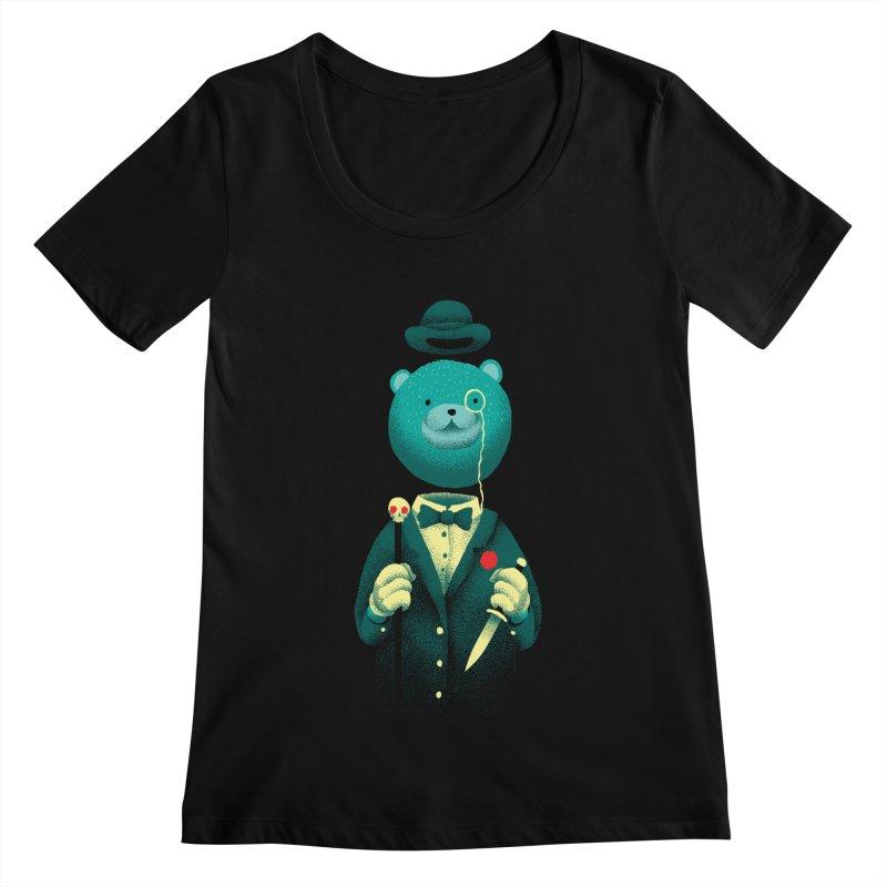 Bad Mr Bear Women's Scoopneck by David Maclennan