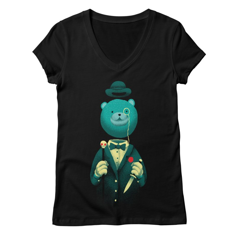 Bad Mr Bear Women's Regular V-Neck by David Maclennan