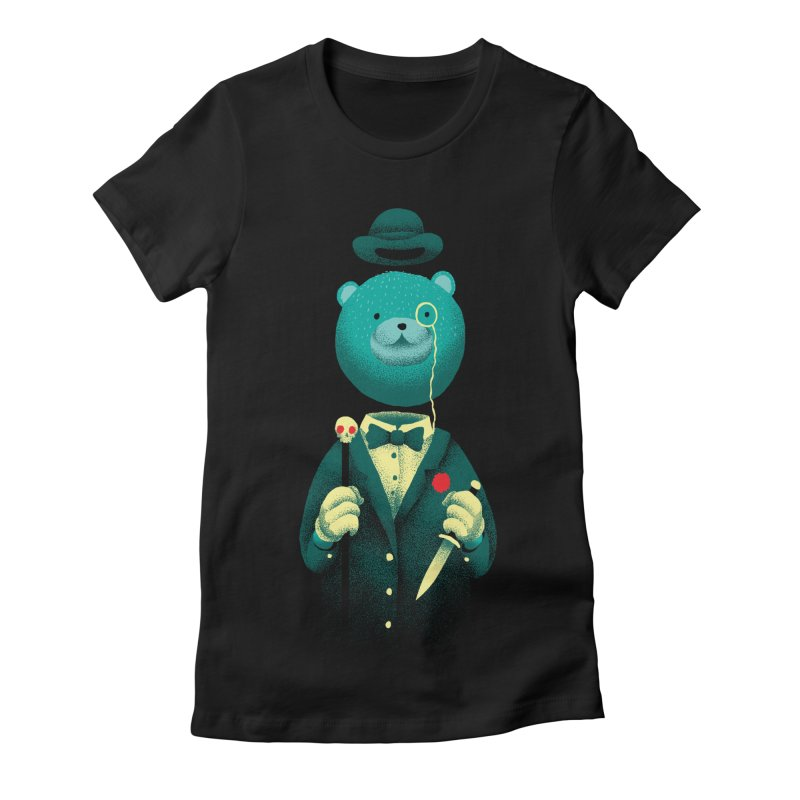 Bad Mr Bear Women's Fitted T-Shirt by David Maclennan