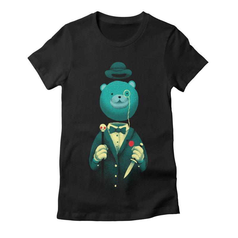 Bad Mr Bear Women's Fitted T-Shirt by David Maclennan