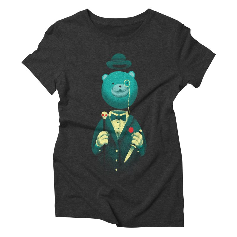 Bad Mr Bear Women's Triblend T-Shirt by David Maclennan