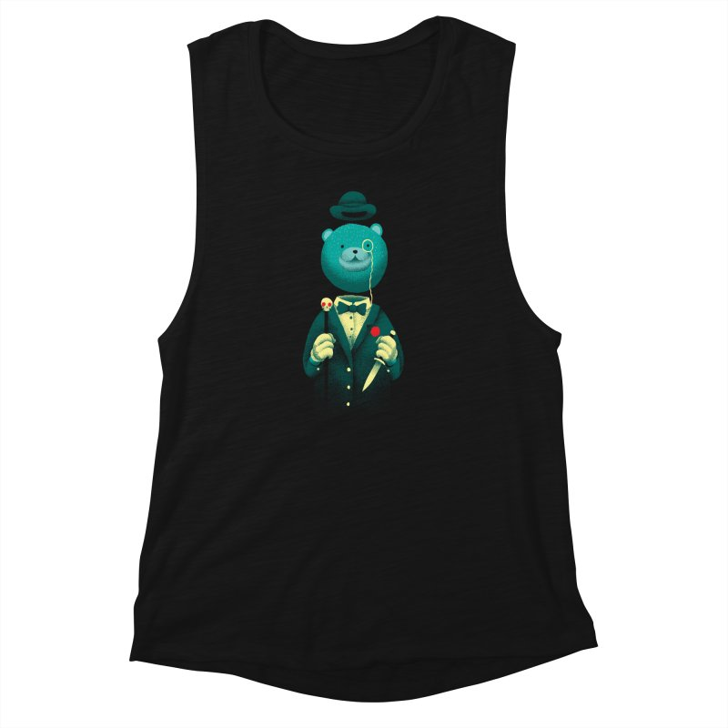 Bad Mr Bear Women's Muscle Tank by David Maclennan