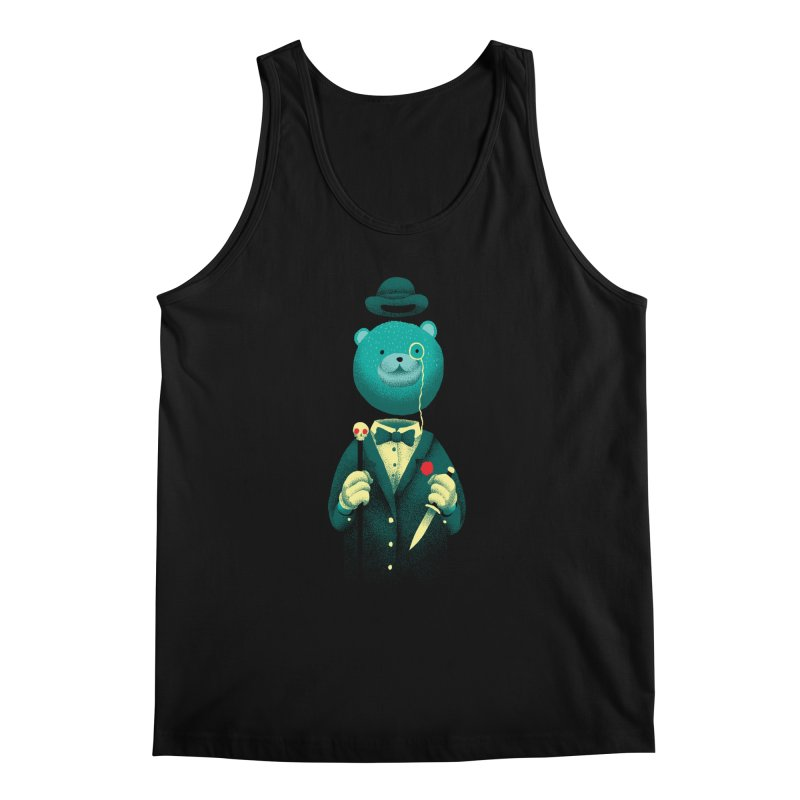 Bad Mr Bear Men's Tank by David Maclennan