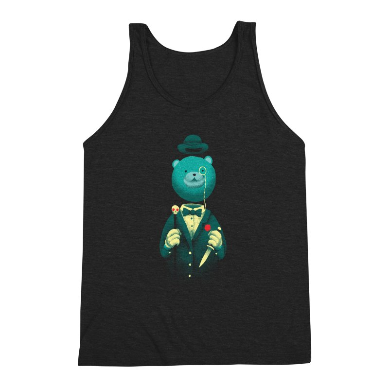 Bad Mr Bear Men's Triblend Tank by David Maclennan