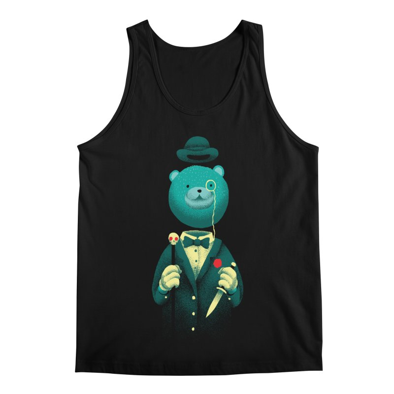 Bad Mr Bear Men's Regular Tank by David Maclennan