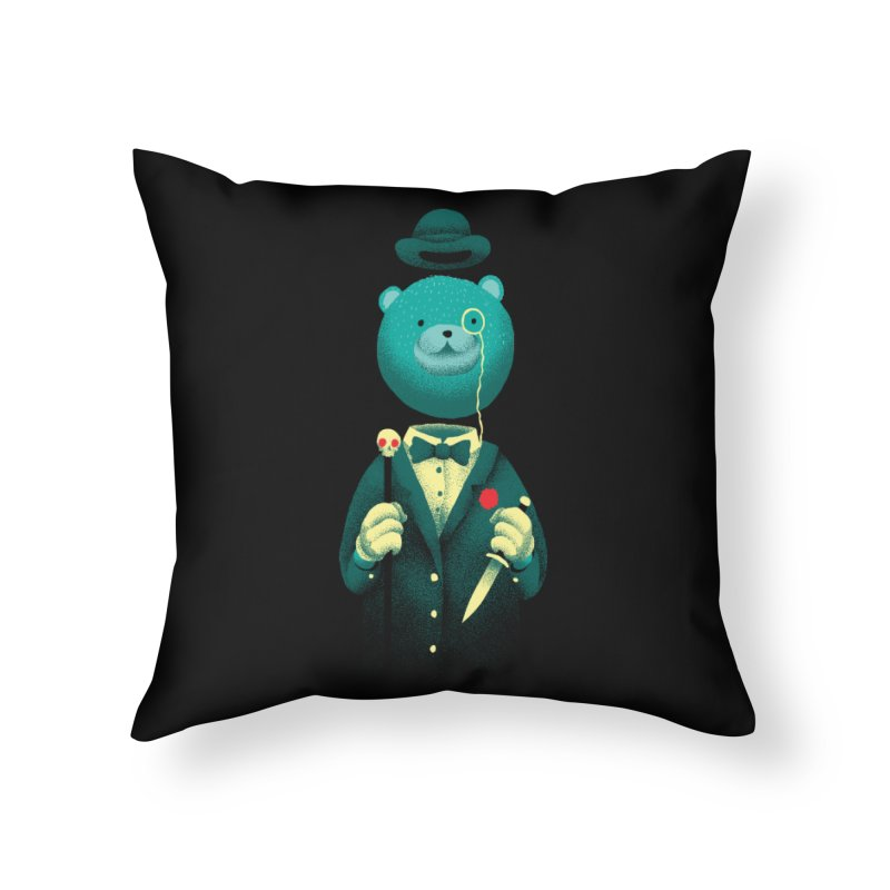 Bad Mr Bear Home Throw Pillow by David Maclennan