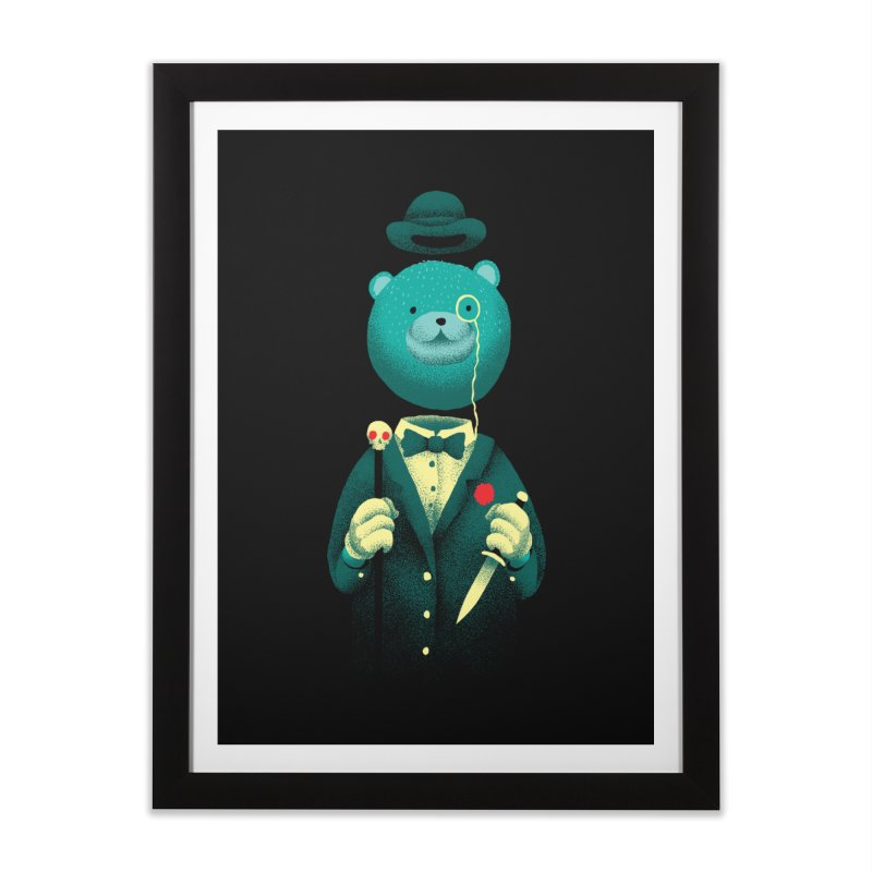 Bad Mr Bear Home Framed Fine Art Print by David Maclennan
