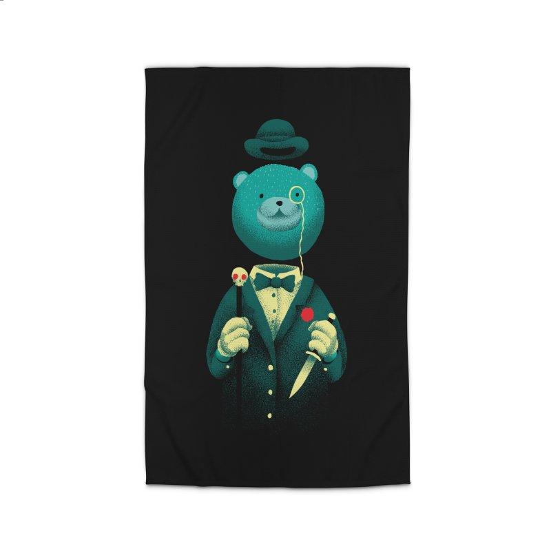 Bad Mr Bear Home Rug by David Maclennan