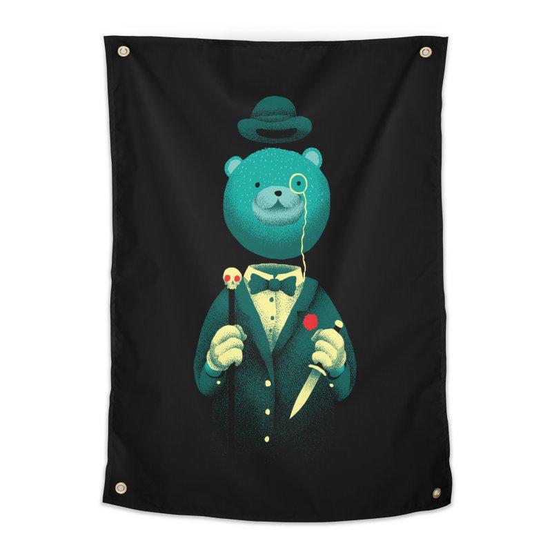 Bad Mr Bear Home Tapestry by David Maclennan