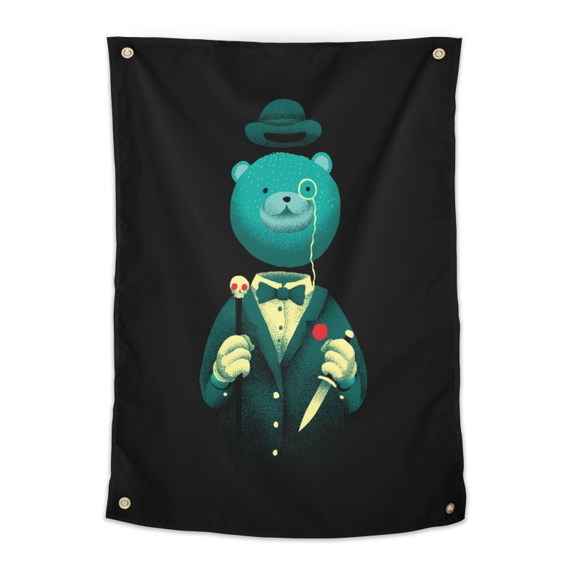 Bad Mr Bear Home Tapestry by David Maclennan