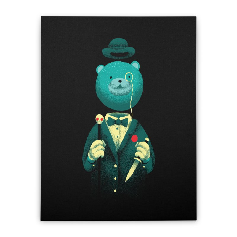 Bad Mr Bear Home Stretched Canvas by David Maclennan