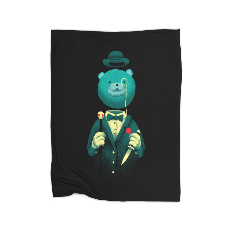 Bad Mr Bear Home Blanket by David Maclennan