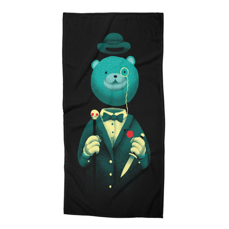 Bad Mr Bear Accessories Beach Towel by David Maclennan