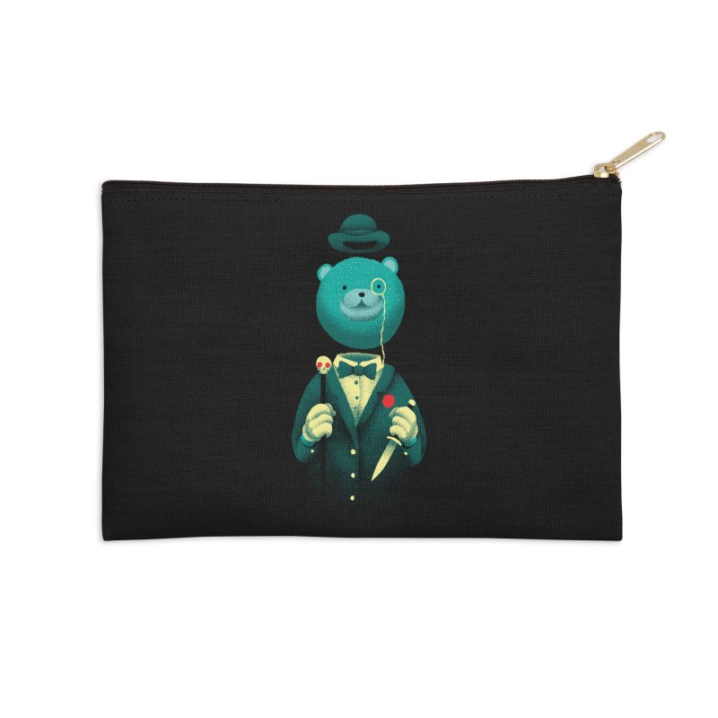 Bad Mr Bear Accessories Zip Pouch by David Maclennan
