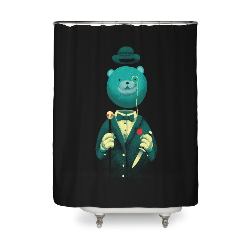 Bad Mr Bear Home Shower Curtain by David Maclennan