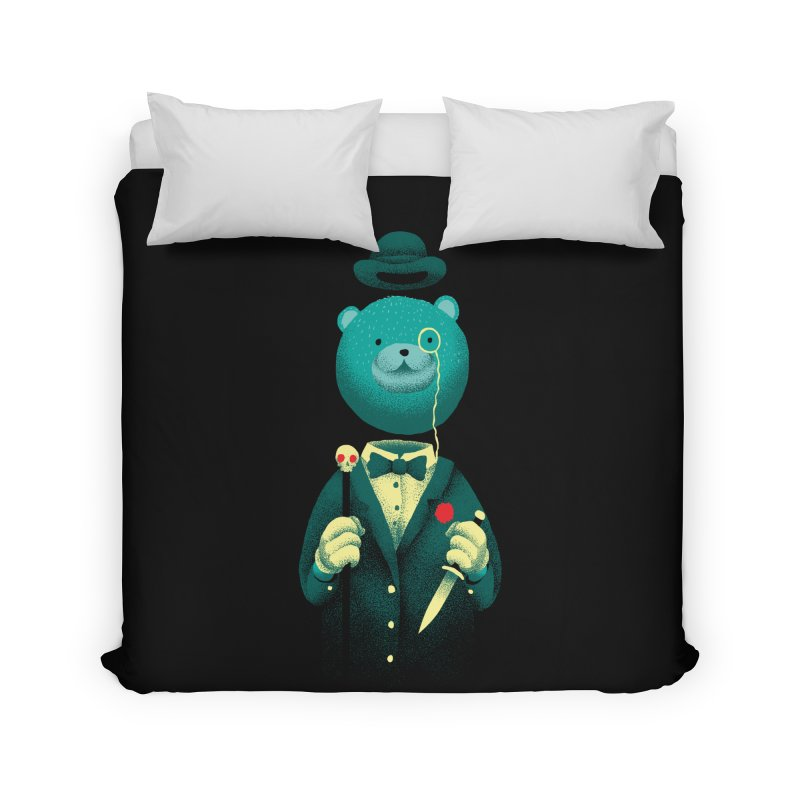 Bad Mr Bear Home Duvet by David Maclennan