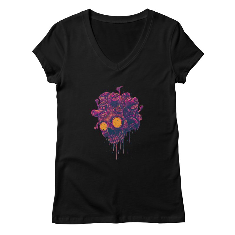 The freakout Women's V-Neck by David Maclennan