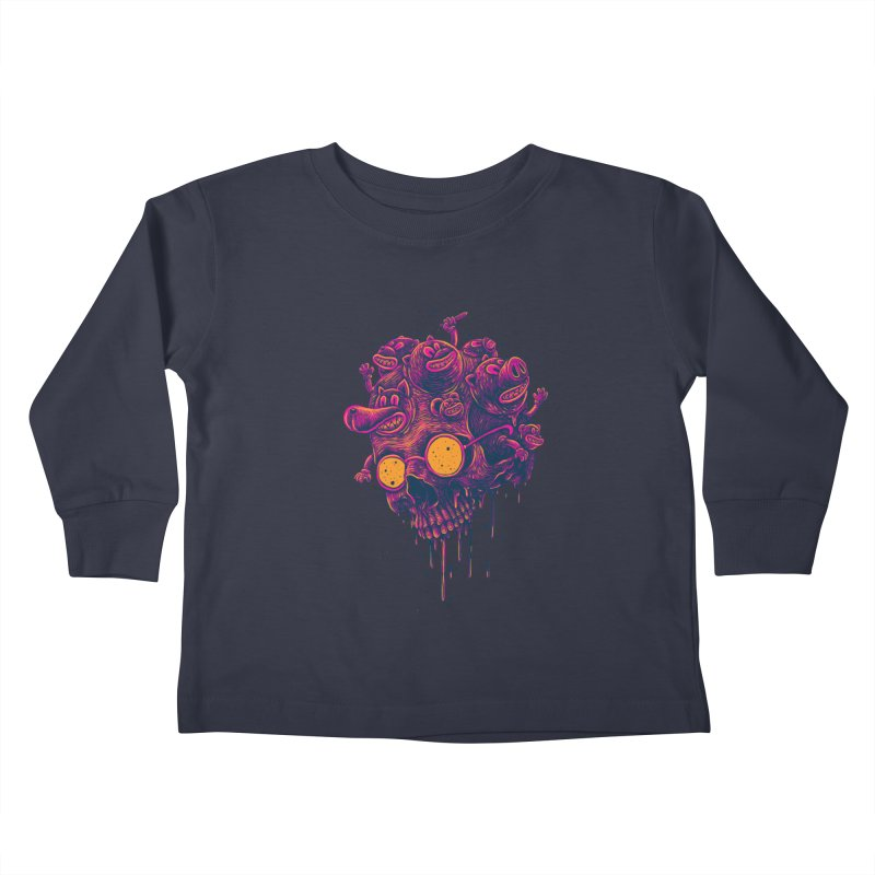 The freakout Kids Toddler Longsleeve T-Shirt by David Maclennan