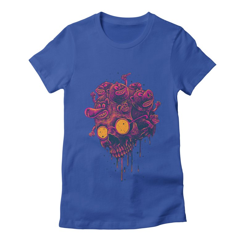 The freakout Women's Fitted T-Shirt by David Maclennan